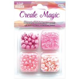 96 Bulk Beads And Sequin Set In Pink