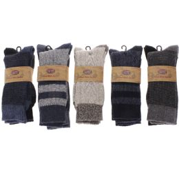 60 Bulk Men's Two Pair Pack 20% Wool Boot Sock