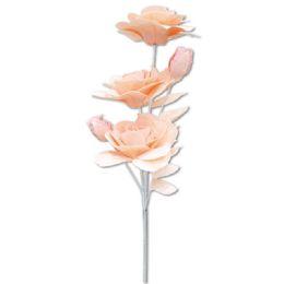 24 Bulk Foam Flower In Peach