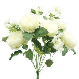 12 Bulk 12 Head Flower In White