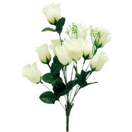 144 Bulk 10 Head Rose Ivory