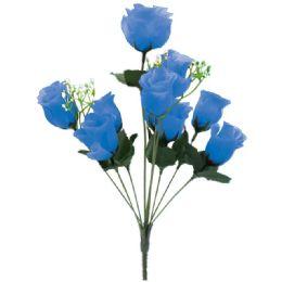 144 Bulk 10 Head Rose In Blue