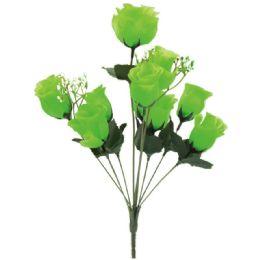 144 Bulk 10 Head Rose In Lime