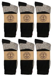 600 Bulk Yacht & Smith Womens Cotton Thermal Crew Socks, Cold Weather Boot Sock, Size 9-11