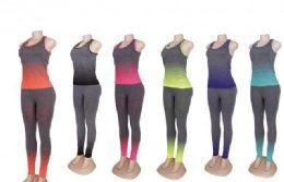 60 Bulk Womens 2 Piece Tye Dye Workout Set