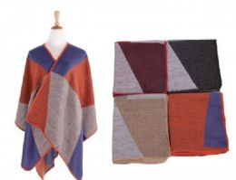 18 Bulk Women's Color Block Shawl Wrap