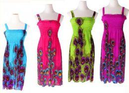 72 Bulk Women Summer Tunic Dress Casual Loose Flowy Swing Shift Dresses