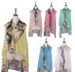120 Bulk Women Floral Print Lightweight Scarf Vest