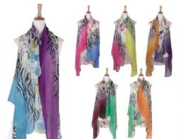 120 Bulk Womens Animal Printed Open Front Drape Cardigan Scarf Vest