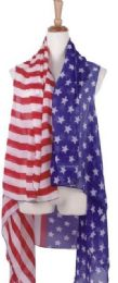 120 Bulk American Flag Patriotic Shawl Wrap Cardigan July 4 USA Stars Stripes Open Kimono Cardigan, Long Vest Scarf