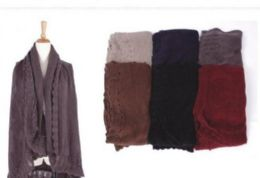 18 Bulk Womens Soft Open Pashmina Shawl Winter Sleeveless Cardigan Vest Warm Knit Shrug