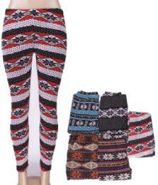 36 Bulk Women Printed High Waist Ultra Soft Yoga Pants Comfy Workout Fashion Leggings