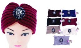 60 Bulk Woman Knitted Headbands Wide Hairband Winter Warm Headband with Rhinestone Ear Protector Headwrap