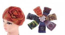 60 Bulk Ear Muffler Headwrap for Women Knit Earmuff With Flower