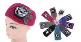 120 Bulk Ear Muffler Headwrap for Women Knit Earmuff With Flower