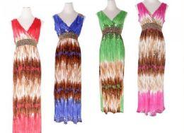 48 Bulk Womens Fashion Sun Dresses Assorted Colors And Sizes Summer Dresses