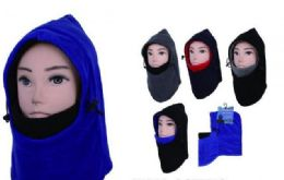 72 Bulk Men's Two Tone Ski Mask For Extreme Cold Weather