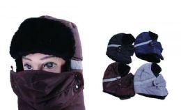 72 Bulk Mens Winter Hat With Mask