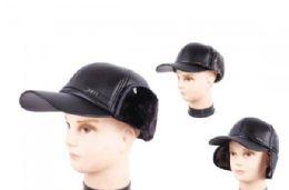 48 Bulk Men Trapper Hat With Faux Fur