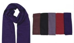 72 Bulk Men's Scarf Solid Color