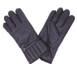 72 Bulk Men's Leather Glove Black Only