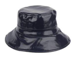 12 Bulk Faux Leather Water Resistant Rain Bucket Hat