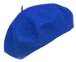 12 Bulk Unisex Classic French Wool Beret In Royal
