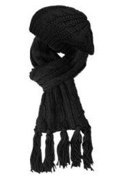 12 Bulk Knit Beret And Scarf Set