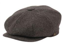 12 Bulk Solid Color Melton Wool Newsboy Cap And Scarf Set Satin Lining