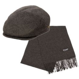 12 Bulk Wool Ivy Cap Plus Scarf Set