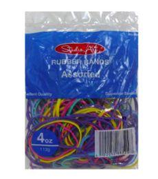48 Bulk Rubber Bands Asst Bands & Colors 4oz
