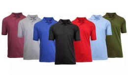 36 Bulk Gildan Mens Assorted Color And Sizes Irregular Polo Golf Shirts