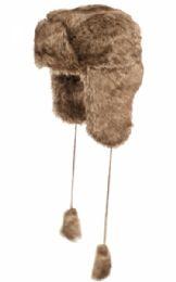12 Bulk Winter Faux Fur Trooper Hat Assorted Color