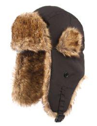 12 Bulk Winter Faux Fur Bomber Trapper Hat