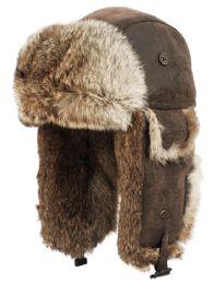 4 Bulk Winter Faux Fur Bomber Trapper Hat In Brown