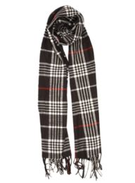 24 Bulk Plaid Soft Cashmere Feel Scarf in Black