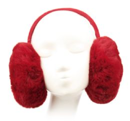 12 Bulk Winter Warm Faux Fur Earmuff Assorted Color