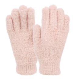 12 Bulk Ladies Soft Fur Winter Glove In Assorted Color