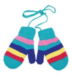 96 Bulk Kids Knit Mittens