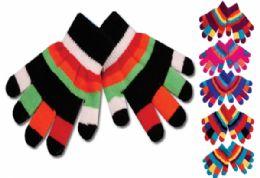 48 Bulk Kids Glove Double Layer