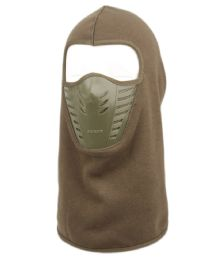 12 Bulk Winter Face Cover Sports Mask With Front Air Flow And Soft Fur Lining In Olive