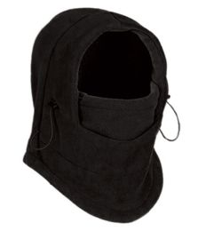 24 Bulk Fleece Winter Flexible Mask In Black
