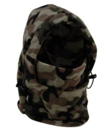 24 Bulk Fleece Winter Flexible Mask In Camo Green