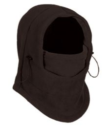 24 Bulk Fleece Winter Flexible Mask In Charcoal