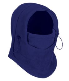 24 Bulk Fleece Winter Flexible Mask In Royal Blue