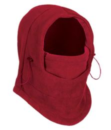 24 Bulk Fleece Winter Flexible Mask In Red