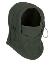 24 Bulk Fleece Winter Flexible Mask In Olive