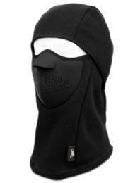 12 Bulk Winter Face Cover Sports Mask With Front Foam And Warm Fur Lining In Black