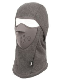 12 Bulk Winter Face Cover Sports Mask With Front Foam And Warm Fur Lining In Grey