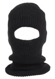 24 Bulk Knit Ninja Winter Mask in Black